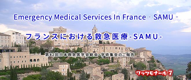 第42回日本救急医学会総会・学術集会 ランチョンセミナー<br />「Emergency Medical Services In France‐SAMU‐<br />(フランスにおける救急医療-SAMU-)」